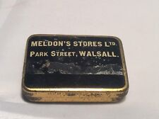 Gen. Vintage Meldons Park St. Walsall Gramophone Needle Tin Box Advertising 40's