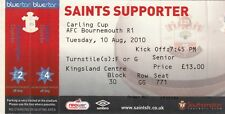 Ticket - Southampton v Bournemouth 10.08.10 League Cup