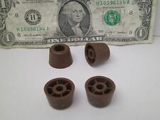 LOT OF 12 NEW BROWN PLASTIC FURNITURE FLOOR PROTECTOR GLIDES SCREW MOUNT RL