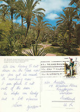 1977 TROPICAL GARDENS ELCHE SPAIN COLOUR POSTCARD