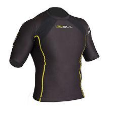 Gul Mens Evotherm Thermal Short Sleeve Rash Vest Top Rashguard Wetsuit Black