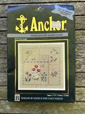 Anchor 28119 FLORAL SAMPLER Cross Stitch Kit Hardanger Made Easy