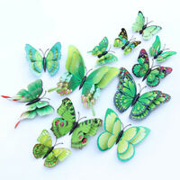 72PCS Butterfly Wall Stickers Removable DIY Simulation 3D Butterfly Wall Decals