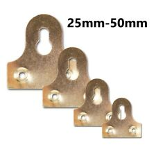 25mm-50mm SLOTTED PICTURE HANGING BRACKET Brass Secure Photo/Mirror Frame Fixing