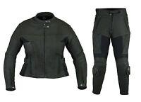 Neue, hochwertige 2-piece Damen Lederkombi schwarz Rindsleder Gr. XS bis XL