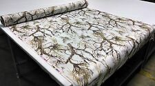 "MC2 SNOW CAMO COTTON POLY TWILL FABRIC 60""W HUNTING CAMOUFLAGE WATER REPELLANT"