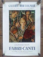 Affiche Exposition FAMBRI-CANTI Galerie ROR VOLMAR 1961