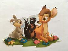 ♥ 1 Bügelbild Hase Klopfer Reh Bambi Transferfolie dunkle helle Stoffe ♥ reborn