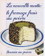 PUBLICITE ADVERTISING 064 1973 BOURSIN au poivre nouvelle recette fromage frais