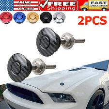 2pc Push Button Quick Release Hood Pins Bonnet Lock Clip Latch Bumper Universal