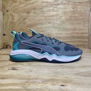 PUMA LQDCELL Tension Rase Training Shoes, Men's Size 9.5, Castlerock Turquoise