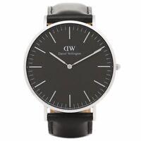 DANIEL WELLINGTON 36mm Silver Classic Black Sheffield Women's Watch DW00100145