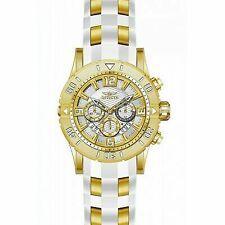 Invicta Men's Pro Diver 200m Gold-tone Chronograph Silver Dial Watch 23699