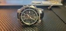 Mens Croton Watch Swiss Chronograph Alligator Skin Strap Watch