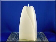 Edle Kerze Rohling Doppelbogen weiß Sonderform Kerzenkunst handgegossen