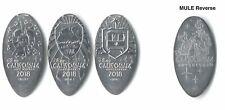*Nickels* Disneyland Dca - Trolley Treats Nickels 2018 (3) made with unc coins