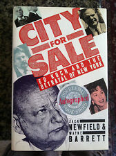 city for sale ed koch and the betrayal of new york book  signed by Jack Newfield