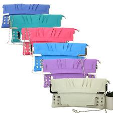 New Women Ladies Clutch Bag Party Prom Bridal Faux Leather Evening Handbag UK
