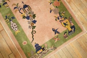 Antique Chinese Art Deco Rug Size 3'x4'9''