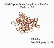 22 Ga Copper Jump Ring ( 6 MM O/D - Pkg. Of 300 ) Saw Cut / By Copper Wire USA