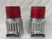 Plymouth Fury Savoy 1961 Tail Light Assembly Pair Chrome Vintage Auto Car Parts