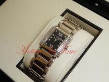 Patek Philippe 24 Twenty 4 18kt White Gold Black Dial Princess Cut 4910/20G-010
