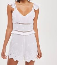 Topshop Embroidery playsuit UK Size 8 , RRP - £39