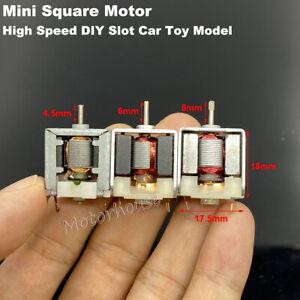 Mini 18mm Square Bare Motor DC 3V 4.5V 6V 9V 12V High Speed DIY RC Toy Slot Car