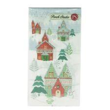 Lot of 2pcs Punch Studio Guest Towel Napkins #43229 Winterland