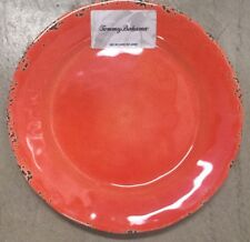 Tommy Bahama Rustic Orange MELAMINE Side Plates Set Of 4