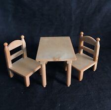 """Sylvanian FAMILIES tavolo da pranzo sedie ricambi in velluto verde Borgogna Calico/"""""""