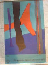 Original vintage Munich 1972 Olympic Games Poster Fritz Winter