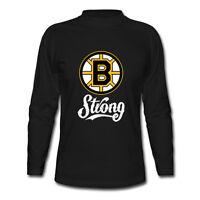 Boston B Strong Marathon Tribute Hockey Bruins Long Sleeve Black T-Shirt S-2XL