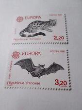 Francia 1986, Francobolli 2416/2417 Nuovi, Europa, VF MNH Stamps