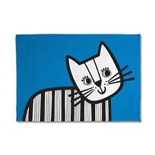 Jane Foster vintage con Blu Teal Animale Scandi Scandinavian Asciugamani-CAT