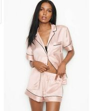 Victoria's Secret Satin Short PJ Set {NWT Pink Fizz} Size L