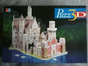 PUZZ3D Alpine Castle Complete 3D Puzzle Box Instructions 1000 Pieces MB Games