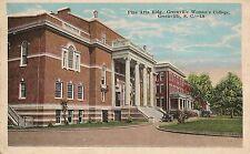 Fine Arts Building Woman's College Greenville SC Postcard 1920