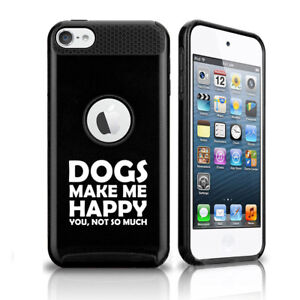 For Apple iPod Touch 5th 6th Shockproof Hard Case Cover Dogs Make Me Happy