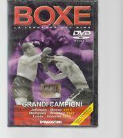 DVD BOXE, LA LEGGENDA DEL RING,GRANDI CAMPIONI, DE AGOSTINI, NUOVO BLISTERATO