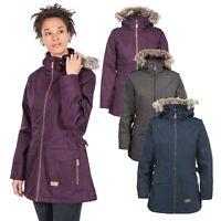 Trespass Womens Parka Jacket Waterproof Longline Padded Raincoat