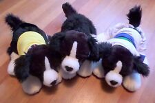 Border Collies Build-a-Bear Pack of 3 with karate gi and soccer uniform Sheepdog