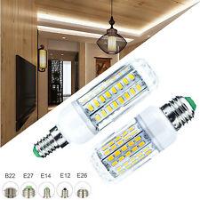 Maíz Bombillas LED regulable E27 E12 E14 5730 SMD 30W 100W Lámpara equivalente RC
