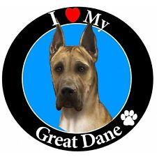 I Love My Great Dane Car Magnet