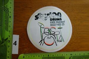 Alter Aufkleber Musikinstrument Schlagzeug SESSION DRUMS Walldorf (A)