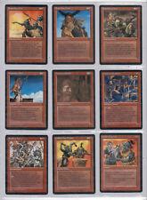 MTG:9 Red Fallen Empires-4 Diff Brassclaw Orcs, Dwarven Soldier, Dwarven Armorer
