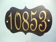 Magnetic Garage Door Numbers Decorative Black or White background