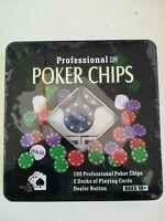 Poker Chips Professional + 2 mazzi di carte da gioco