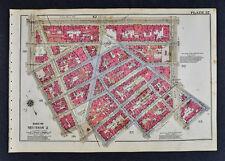 1934 New York City Map Manhattan Greenwich & 8th Avenue Jackson Square Hudson