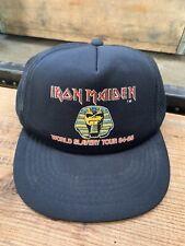 Vintage Iron Maiden World Slavery Tour Hat 1984 85